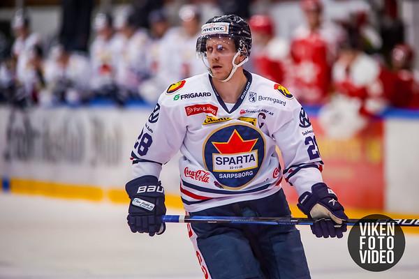 Spartas spiller Niklas Roest  i kampen mellom Stjernen og Sparta. Foto: Thomas Andersen