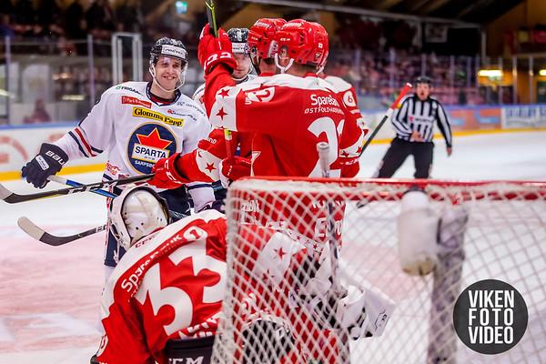 Spartas spiller Samuel Salonen i kampen mellom Stjernen og Sparta. Foto: Thomas Andersen
