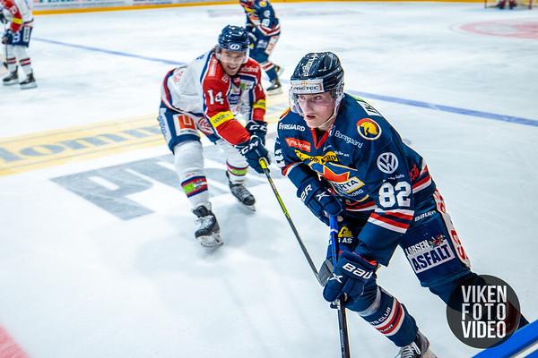 Spartas spiller Jonas Meisingset i kampen mellom Sparta og Lillehammer. Foto: Thomas Andersen - www.vikenfotovideo.no