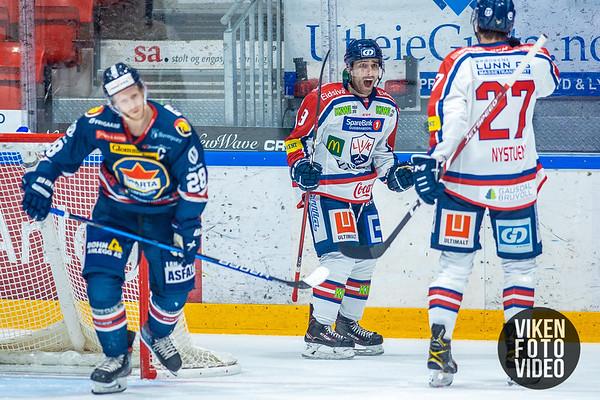 Lillehammers spiller Austin Cangelosi jubler for 2-0 i kampen mellom Sparta og Lillehammer. Foto: Thomas Andersen - www.vikenfotovideo.no