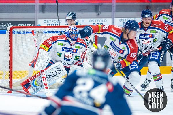 Lillehammers målvakt Trym Gran i kampen mellom Sparta og Lillehammer. Foto: Thomas Andersen - www.vikenfotovideo.no