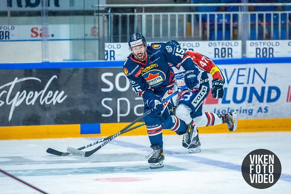 Spartas spiller Robin Andre Soudsky i kampen mellom Sparta og Lillehammer. Foto: Thomas Andersen - www.vikenfotovideo.no