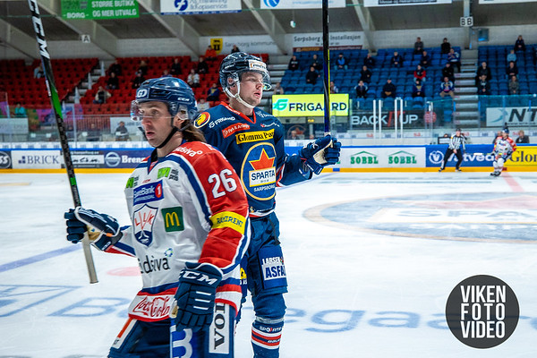 Spartas spiller Magnus Nilsen i kampen mellom Sparta og Lillehammer. Foto: Thomas Andersen - www.vikenfotovideo.no