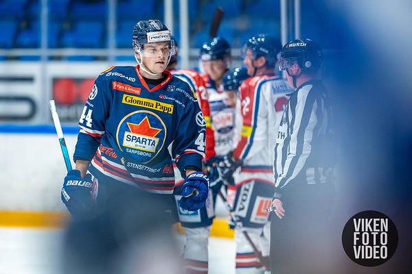 Spartas spiller Santeri Saari depper etter 0-1 i kampen mellom Sparta og Lillehammer. Foto: Thomas Andersen - www.vikenfotovideo.no