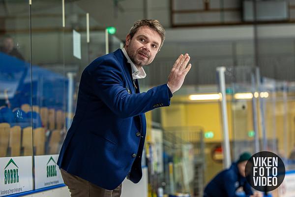Storhamars hovedtrener Anders Gjøse i kampen mellom Sparta og Storhamar. Foto: Thomas Andersen