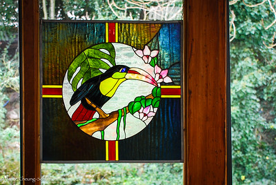 Another stained glass on the restaurant window.