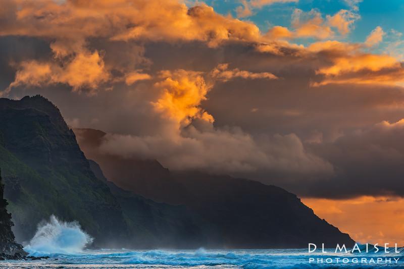 Sunset at Na Pali Coast Kauai