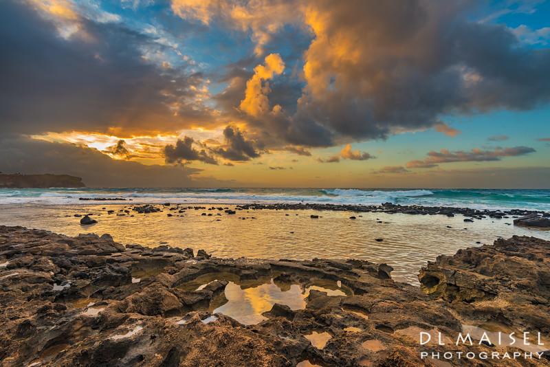Sunrise along the Maha'ulepu Heritage Trail  Kauai