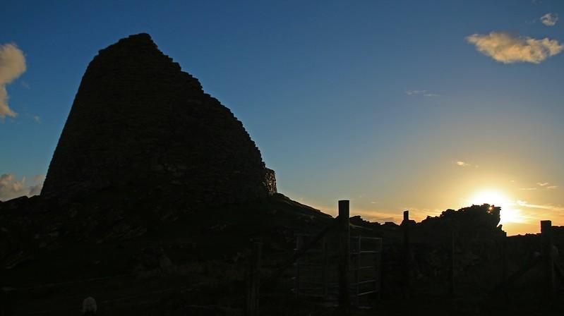 Dun Carloway Broch in silhouette