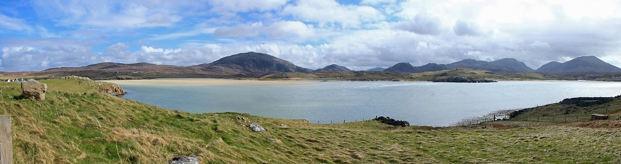 Panoramic view from Crowlista to Uig