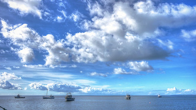 Boats and clouds2
