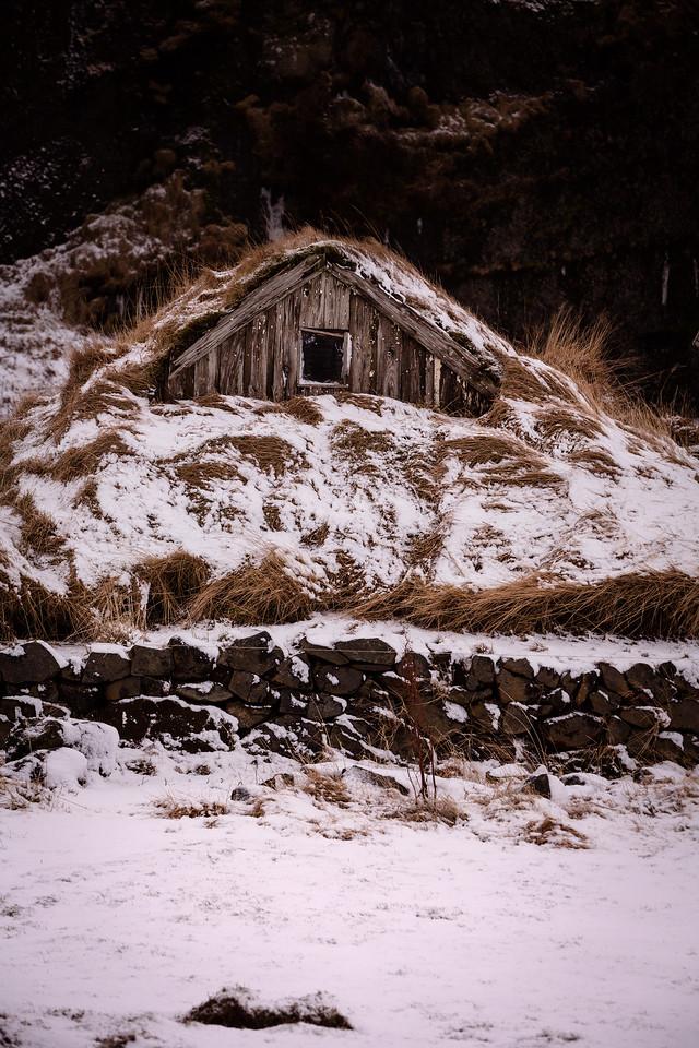 Turf house, Seljalandsfoss, south Iceland