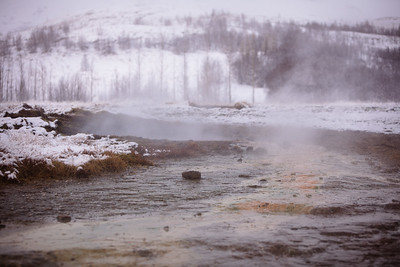 Haukadalur valley, geothermal area, Golden Circle