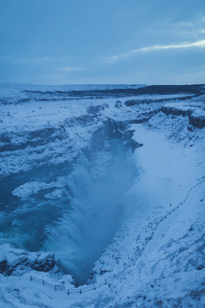 Gullfoss waterfall,  Hvítá canyon, Golden Circle