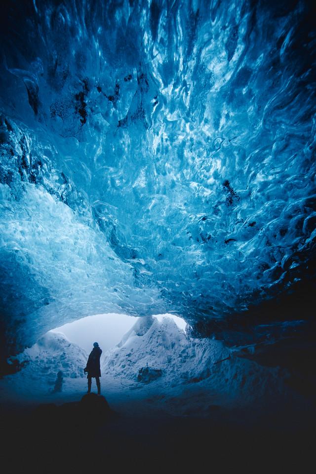 Vatnajökull glacier, ice cave