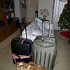Two suitcases and a carry-on all packed and ready to go