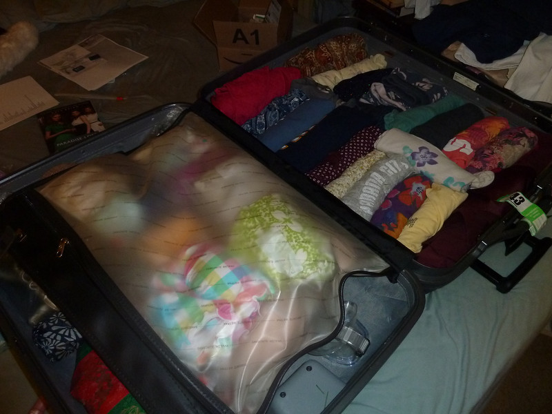 Packing complete: 5:15am, December 20, 2010 (it was not a good night)
