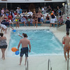 Pool Olympics: yes, they attempted this while the sea was so rough