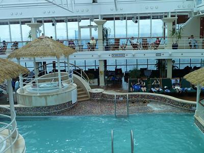 Lotus Spa pool in rough seas