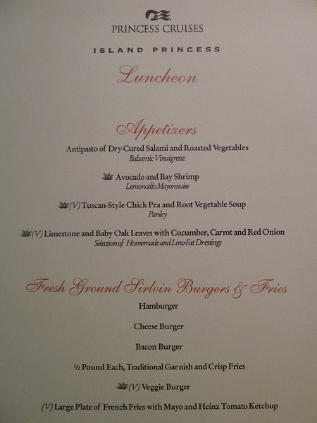Embarkation Day lunch, main dining room