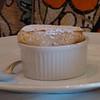 Orange souffle with Grand Marnier vanilla sauce