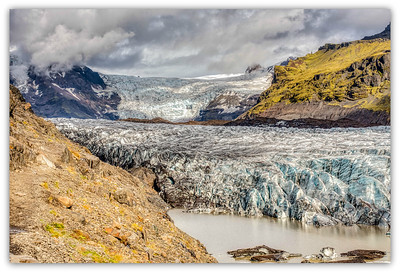 Svinafell glacier , Islande