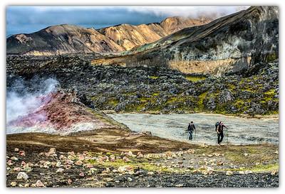Ascension du Brennisteinsalda , Islande
