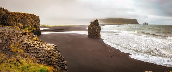 Plage de sable noir à Vie, Islande