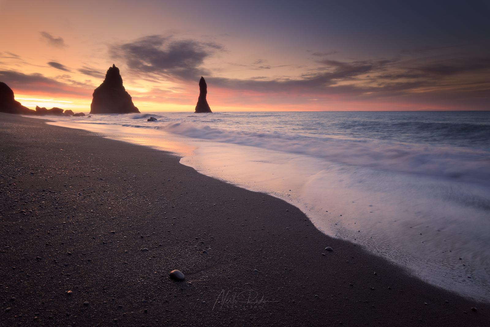 Reynisfjara Beach at sunrise
