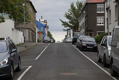 Uliczka w centrum Rejkiaviku