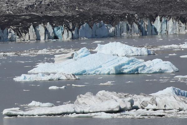 Czoło lodowca, już nie w parku Skaftafell