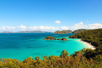 Trunk Bay Overlook, St John, US Virgin Islands