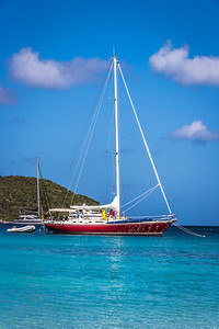 Sailboat at Maho Bay