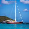 Sailboat at Maho Bay