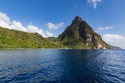 Petit Piton panorama, Soufriere Bay