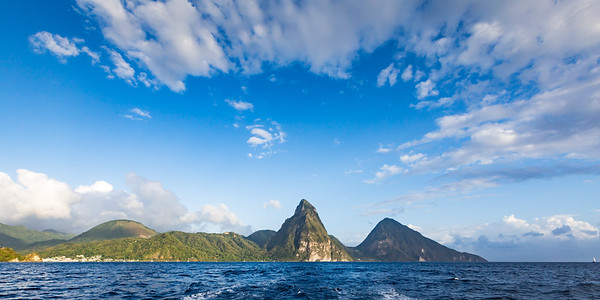 Petit and Gros Piton view