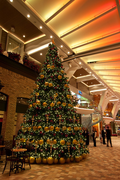 Christmas tree in Royal Promenade