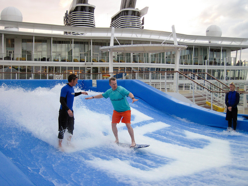 Mike on the Flowrider