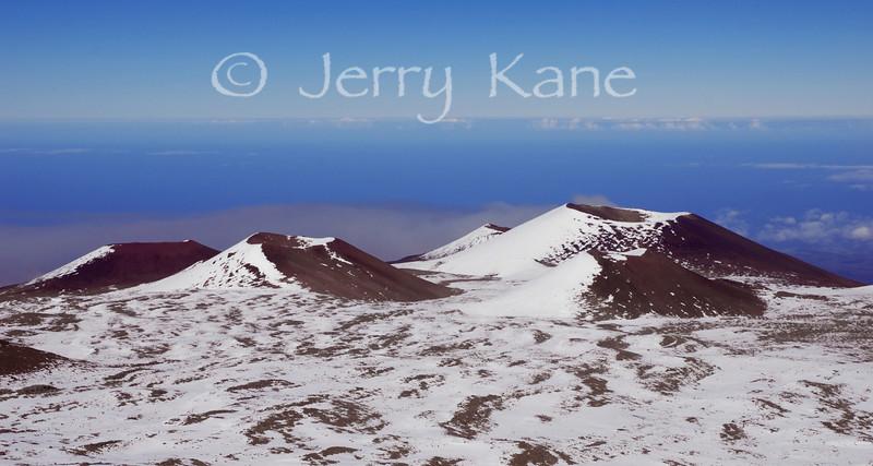 Cinder cones near the 13,796 ft summit of Mauna Kea -  Big Island, Hawaii