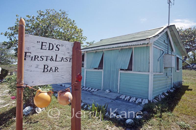Ed's watering hole on San Salvador Island, Bahamas