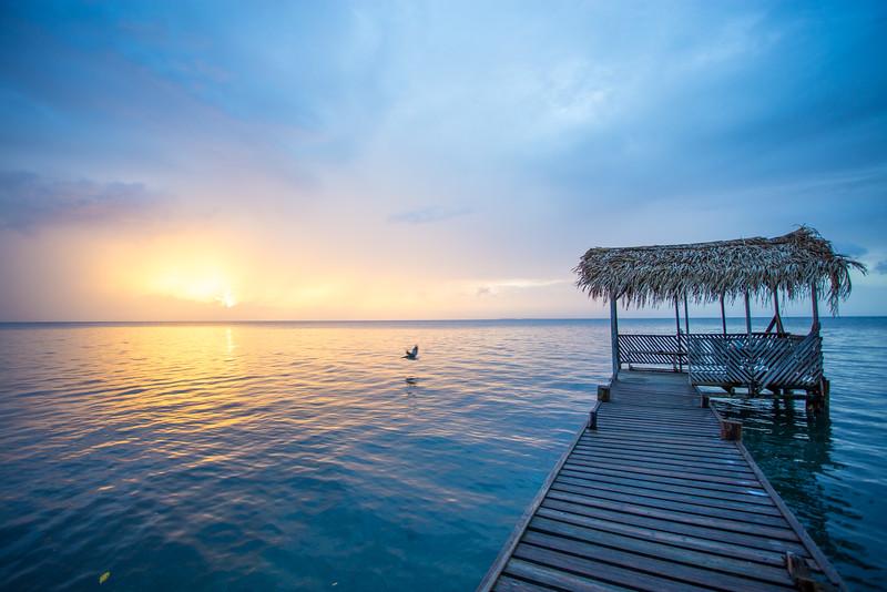 Sunset at Billy Hawk Caye