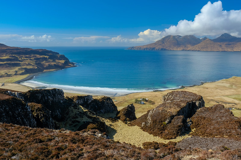 Laig Bay and Rum from Eigg