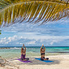 Yoga at Moho Caye, Belize