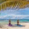 Yoga at Moho Caye, Belize