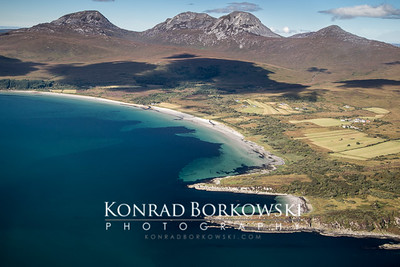 Corran Sands, Knockrome and Ardfernal with Paps of Jura, Isle of Jura
