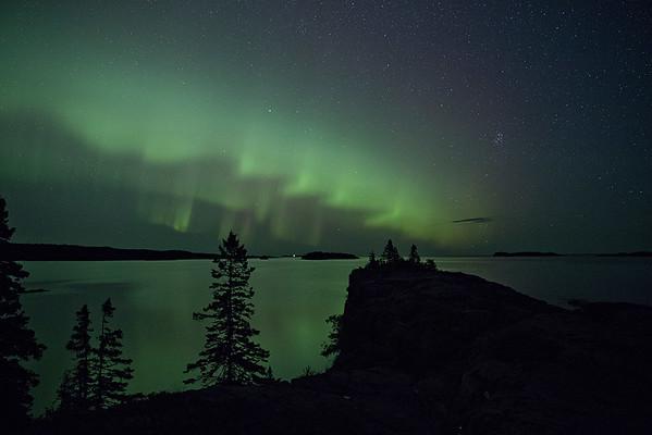 Aurora over Passage Island