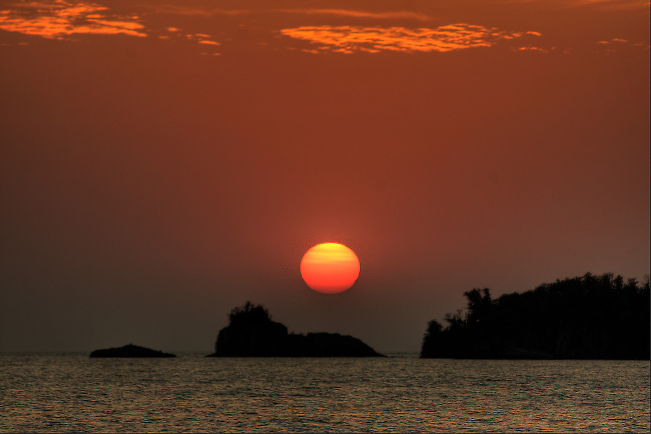 Sunrise over Bat Island