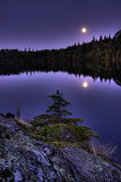 Moonrise over Pickerel Cove