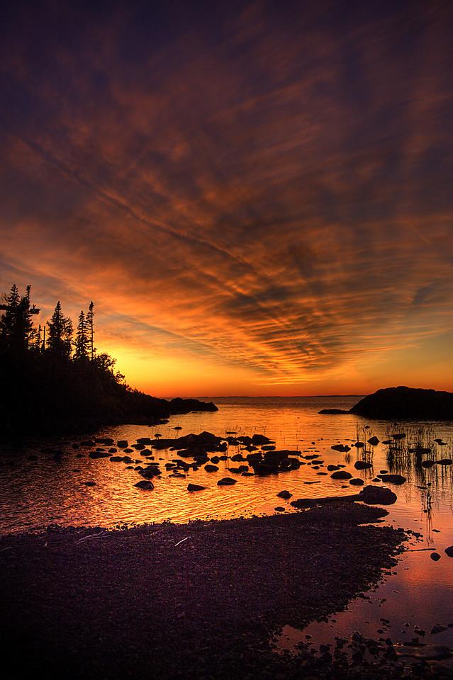Hawk Island Cove Sunset