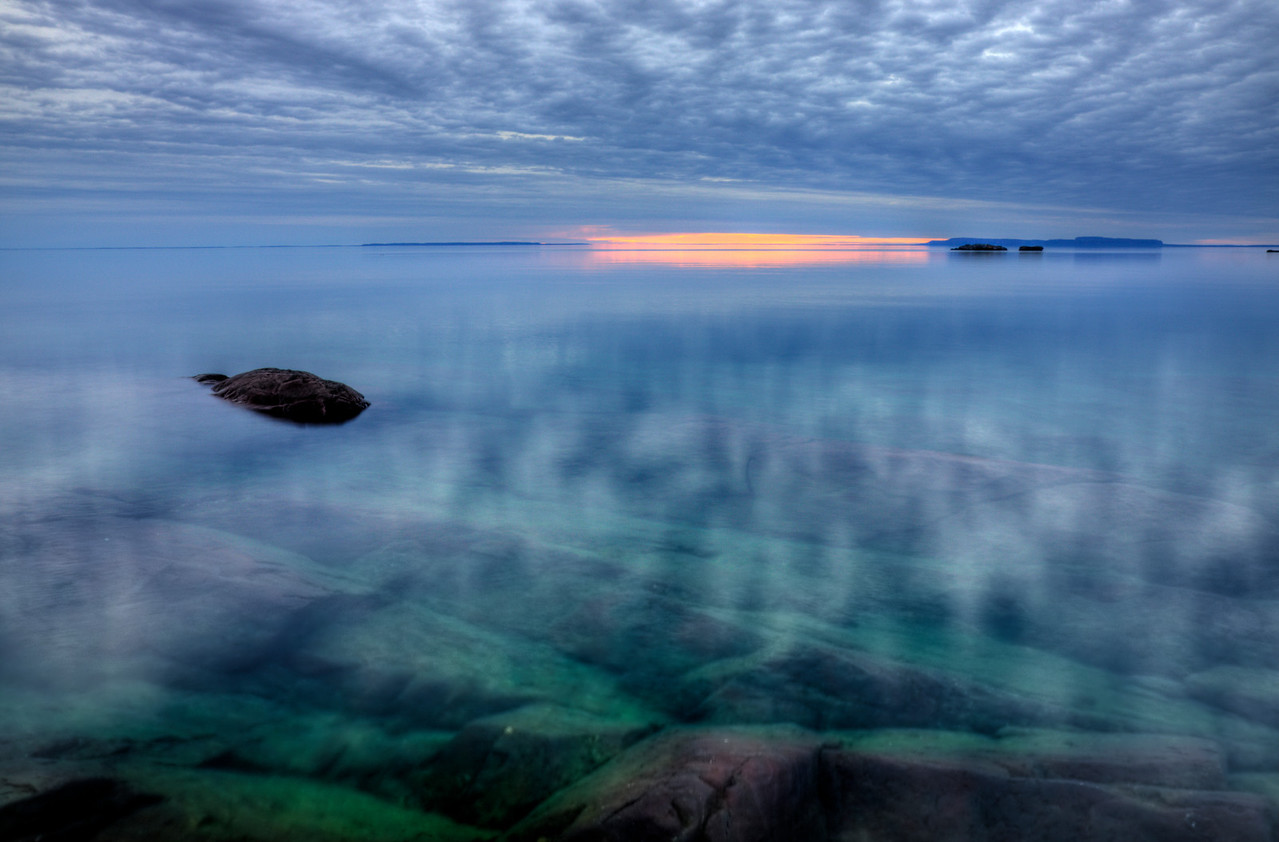 Sky Reflections on Lake Superior